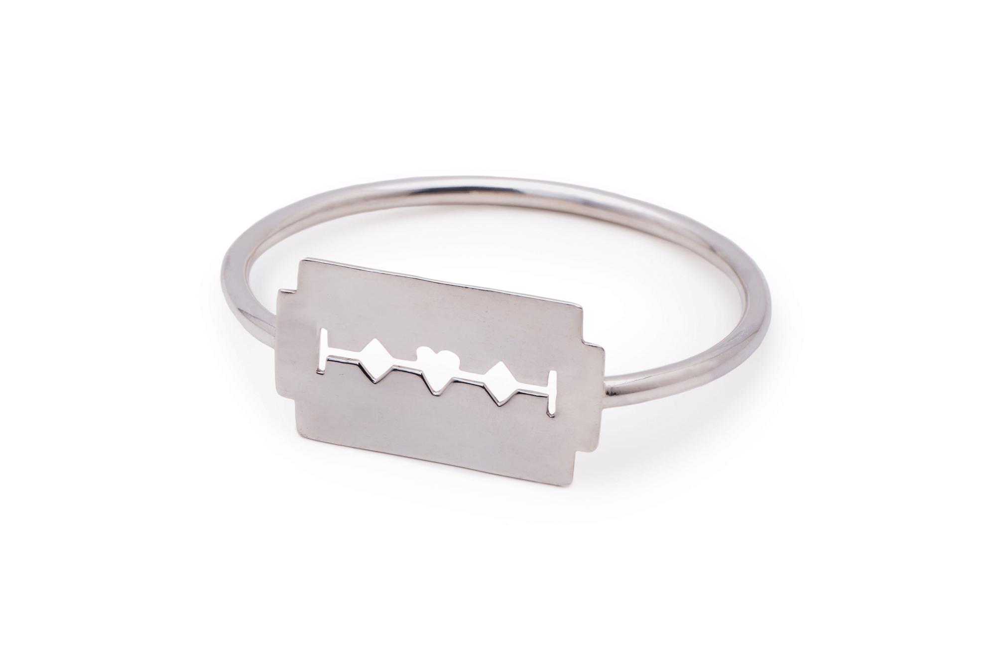 Razor Blade Bracelet Haywire Jewellery